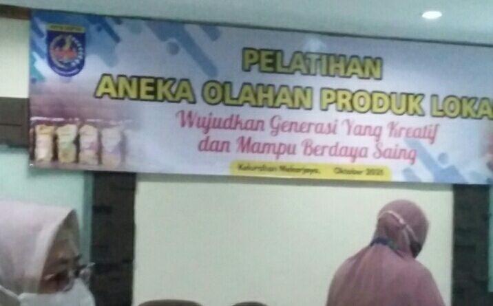 Anggaran Pelatihan Aneka Olahan Produk Lokal Kelurahan Mekarjaya Sebesar Rp.32 juta